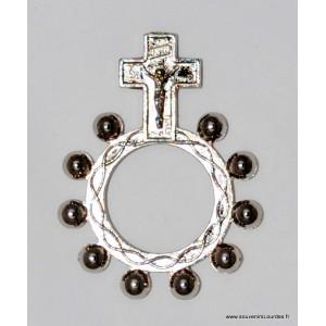 Dizainier de Lourdes à doigt en métal