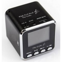 "Enceinte mini Cube  écran LCD ""The Cube"""