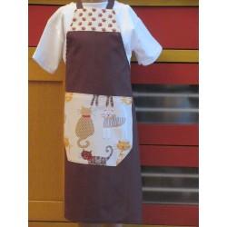 tablier cuisine coton personnalisé chats 6 ans