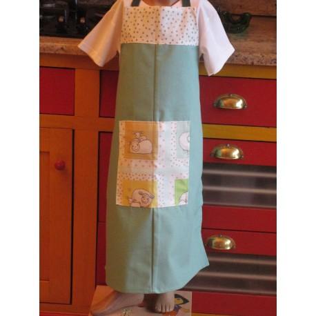 tablier cuisine coton personnalisé brebis étoilée 8 ans