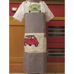 tablier cuisine coton personnalisé 2cv 6 ans