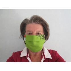Masque anti-postillons femme en toile de coton épaisse lavable et réutilisable