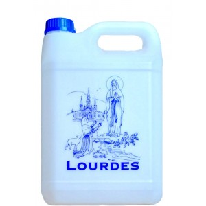 Bidon 750 ml d'eau de Lourdes.